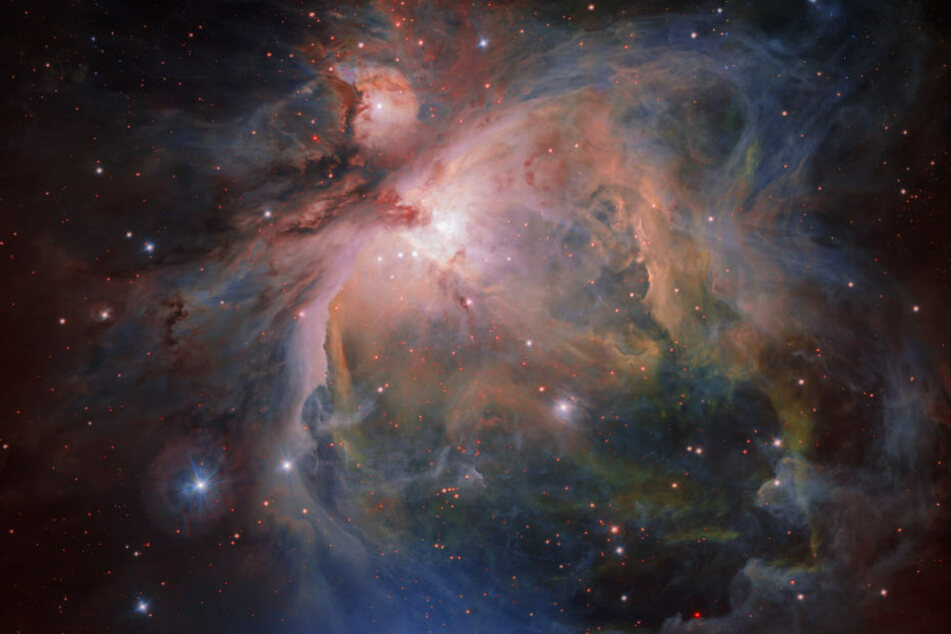 Der Orionnebel und seine Sterne.