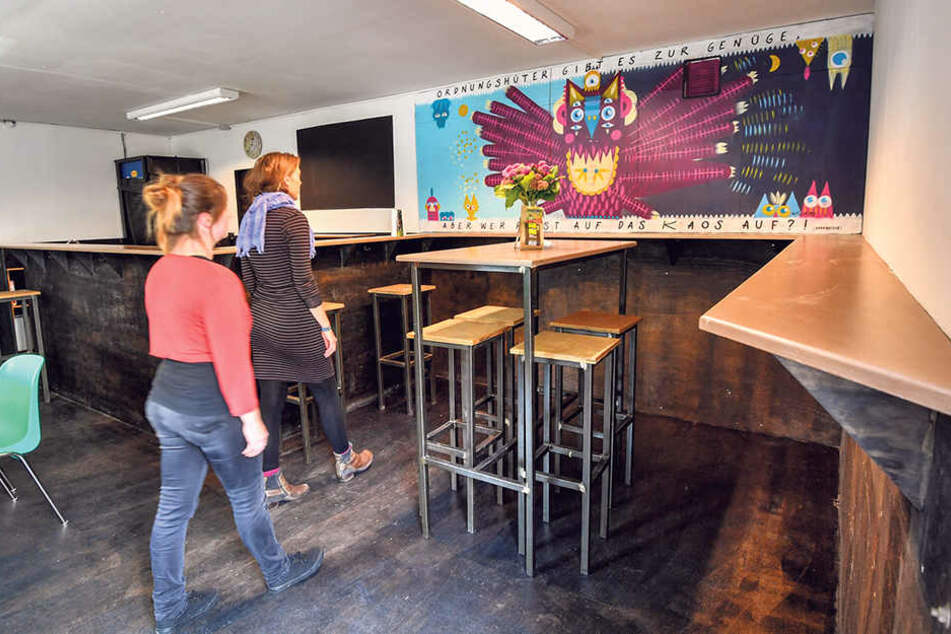 Hier gingen früher die Biere über den Tresen: In der ehemaligen Kneipe lädt  die Neustadt-Kümmerin zu ihren Sprechstunde.