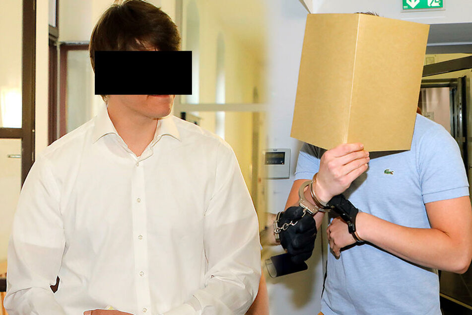 Domenique G. (26,l.) ist als Komplize angeklagt und schweigt. Drogendealer Maximilian H. (22,r.) packte am Dienstag komplett aus.