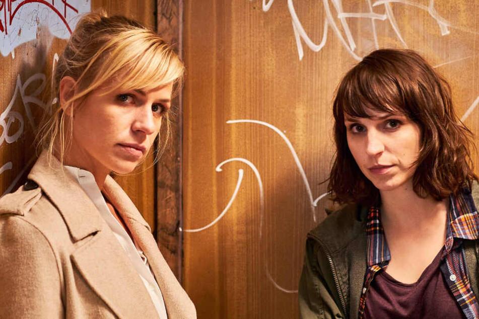 """Caroline Erikson (Luna) und Katrin Jaehne (Sophie) ermitteln für die ZDF-Krimiserie """"Soko Potsdam""""."""