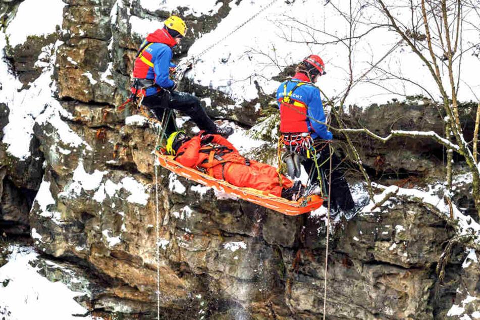 Was war da los? Bergwacht in Sächsischer Schweiz im Einsatz
