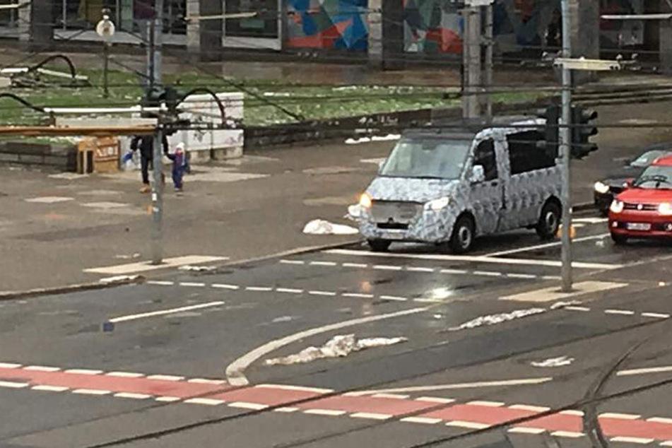Ist hier ein Erlkönig mitten in Chemnitz unterwegs?