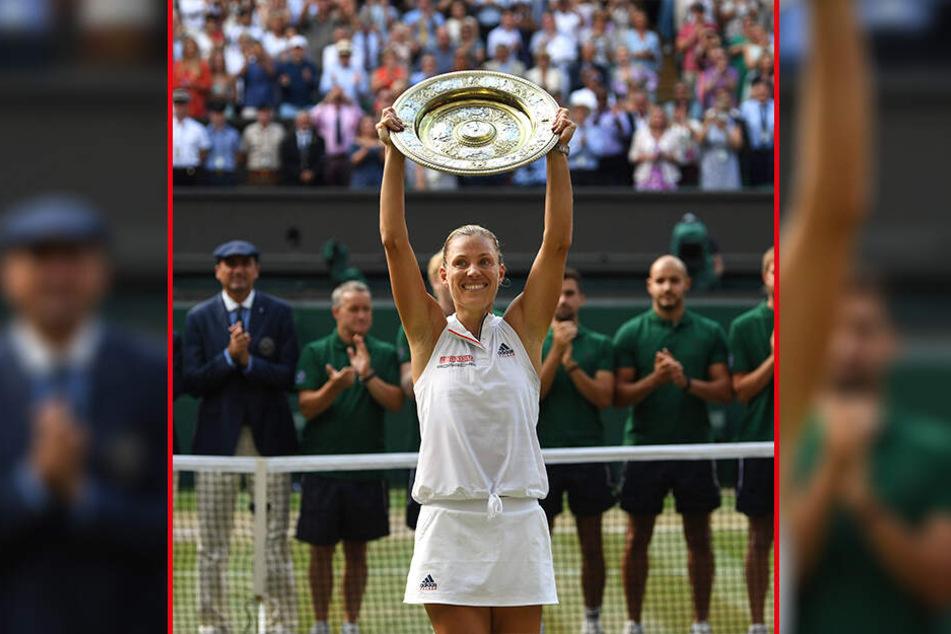 Angelique Kerber (29) siegte in Wimbledon in diesem Outfit.