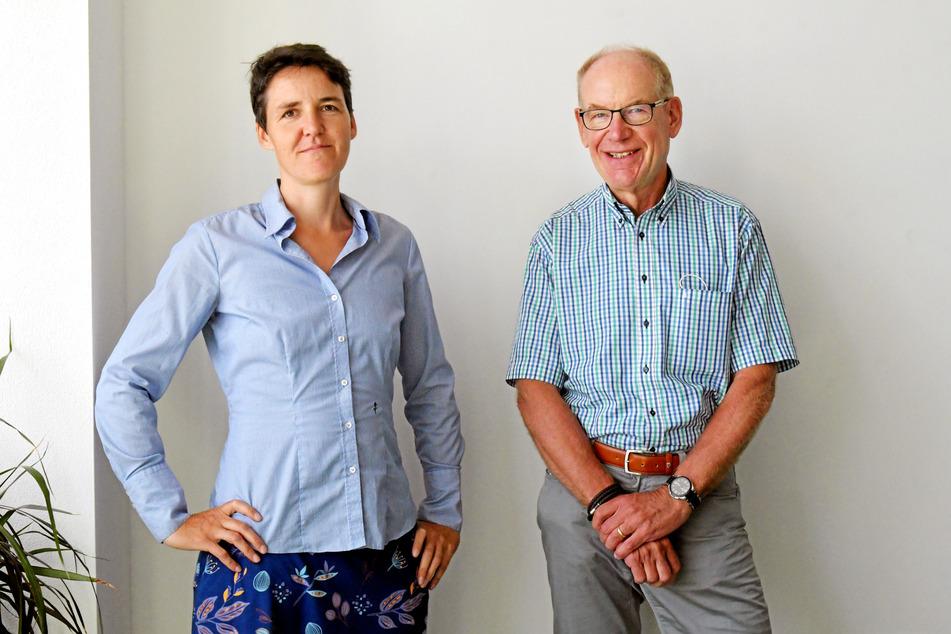 Andrea Mühle (44) und Wolfgang Deppe (66) halten 2G bei Großveranstaltungen für eine gute Möglichkeit, die Inzidenz in Dresden niedrig zu halten.