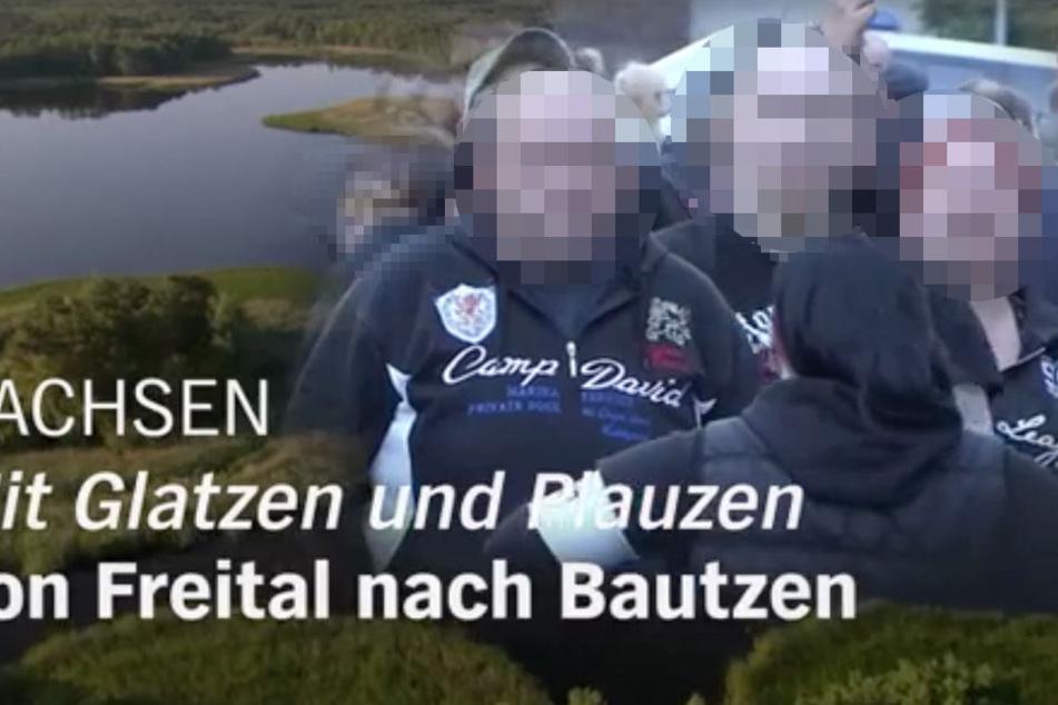"""Der Film hat den Titel: """"Sachsen. Mit Glatzen und Plauzen von Freital nach Bautzen."""""""