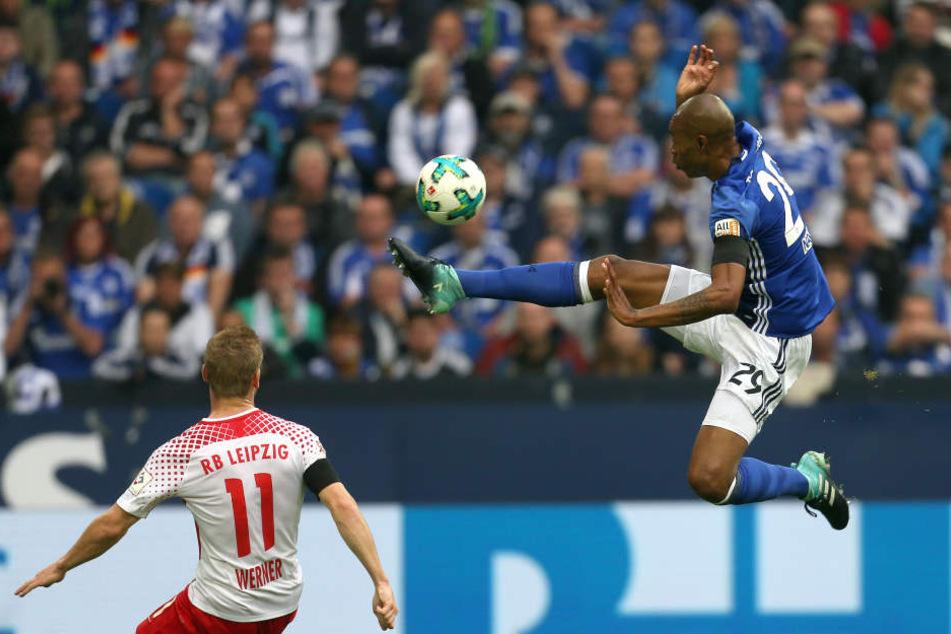 Hatte nicht nur wegen der konzentrierten Abwehrleistung der Heimmannschaft einen schweren Stand auf Schalke: Timo Werner .