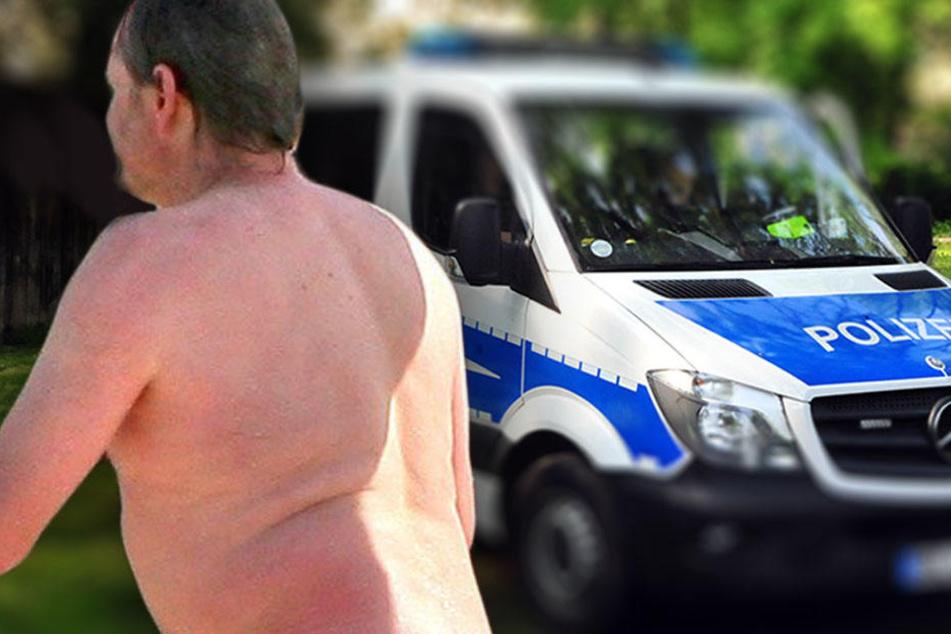 Mit vollem Körpereinsatz: Nackter Mann bespringt Autos