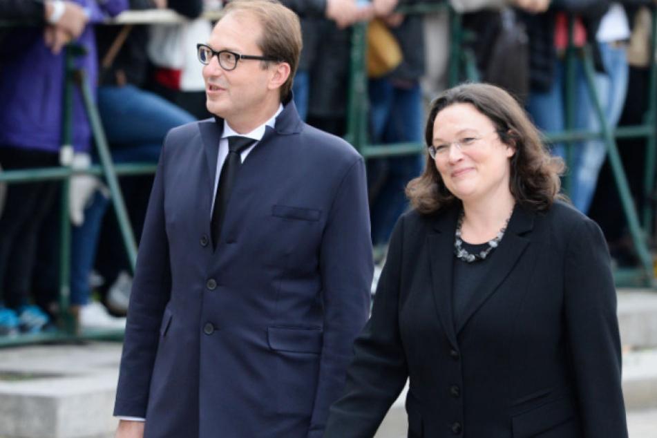 Andrea Nahles (47) und Alexander Dobrindt (47). (Archivbild)