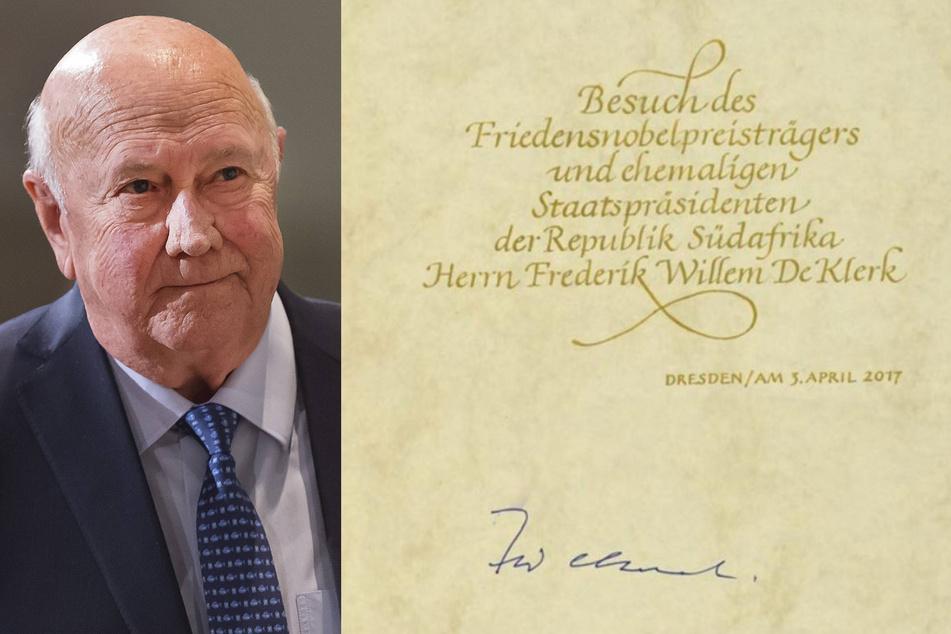 Südafrikas Ex-Präsident Frederik Willem de Klerk. (Bildmontage)