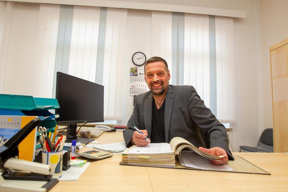Ingo Eckardt (49) tritt als Einzelkandidat bei der Oberbürgermeisterwahl in Plauen an.