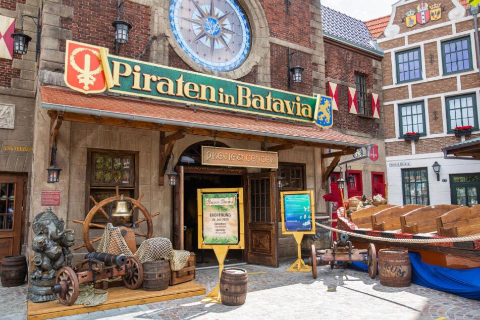 """Die abgebrannte Attraktion """"Piraten in Batavia"""" öffnet wieder."""