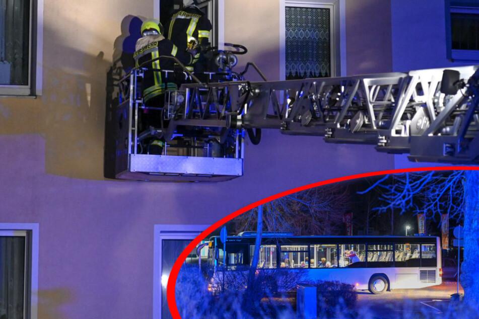 Wohnungsbrand: Mieter verbringen Nacht in Linienbus, Verantwortlicher unter Drogen?