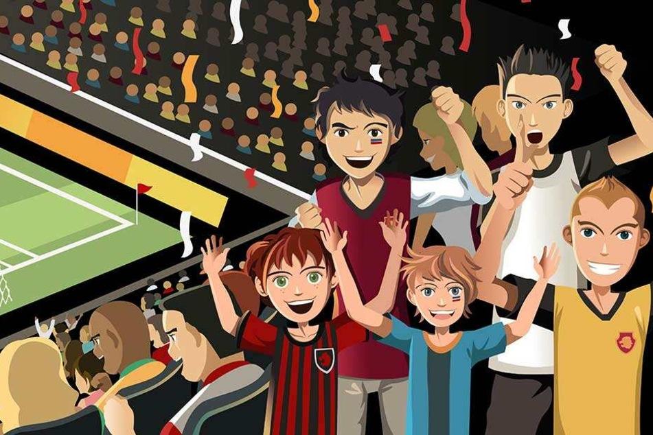 Wenn der Vater mit dem Sohn ins Stadion geht, muss das nicht zwingend wie im Bilderbuch ablaufen.