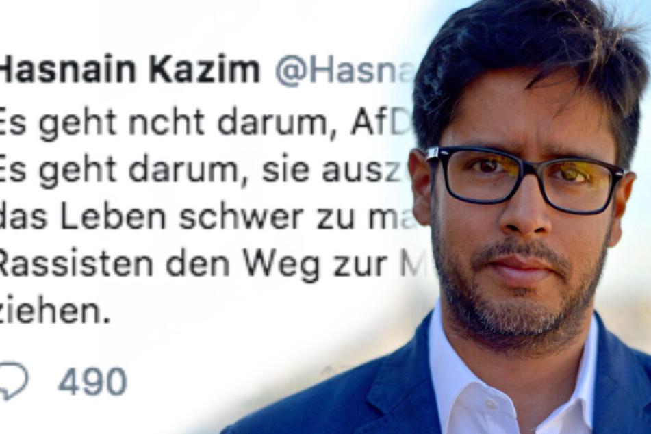 """""""Ausgrenzen"""", """"ächten"""": So keilt Spiegel-Journalist Hasnain Kazim gegen AfD-Wähler"""