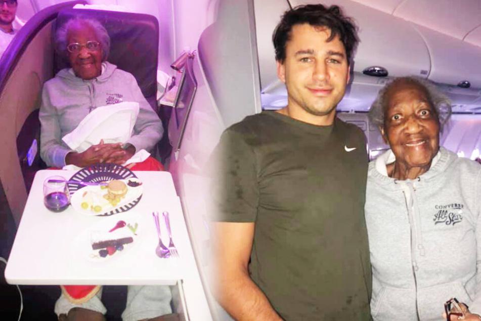 Mann lernt Rentnerin (88) am Flughafen kennen, dann folgt die Mega-Überraschung