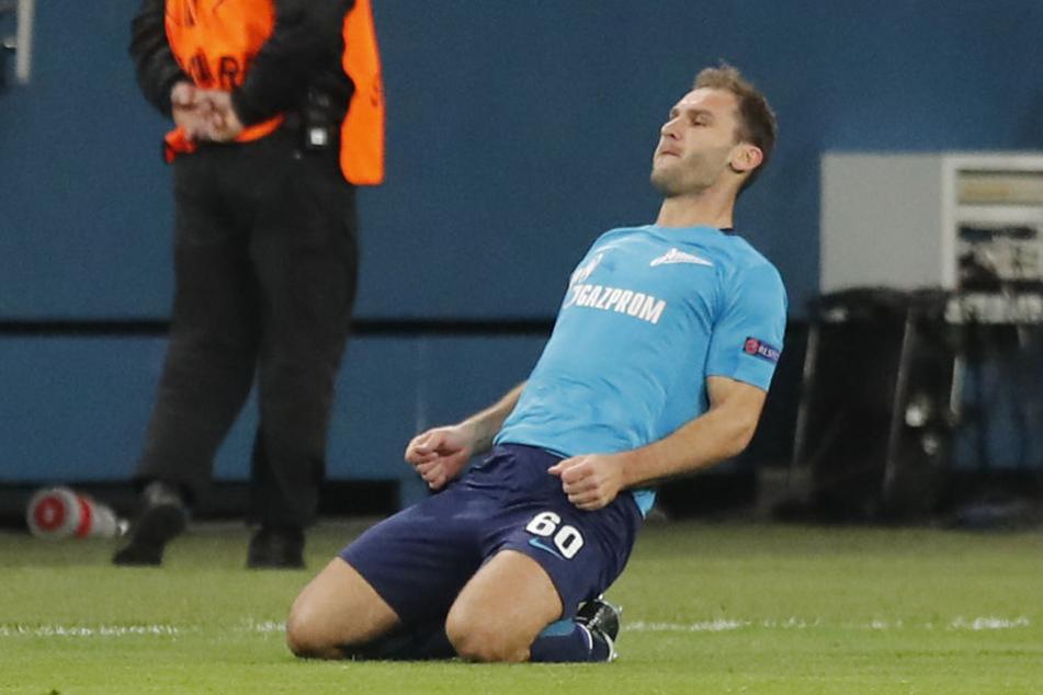 Einer der Stars im Team von Trainer Roberto Mancini: Innenverteidiger Branislav Ivanovic, der neuneinhalb Jahre für den FC Chelsea spielte.