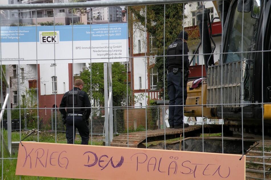 Gegen die Bauarbeiten auf dem Grundstück der Hildebrandstraße 40 hatte es Proteste gegeben.