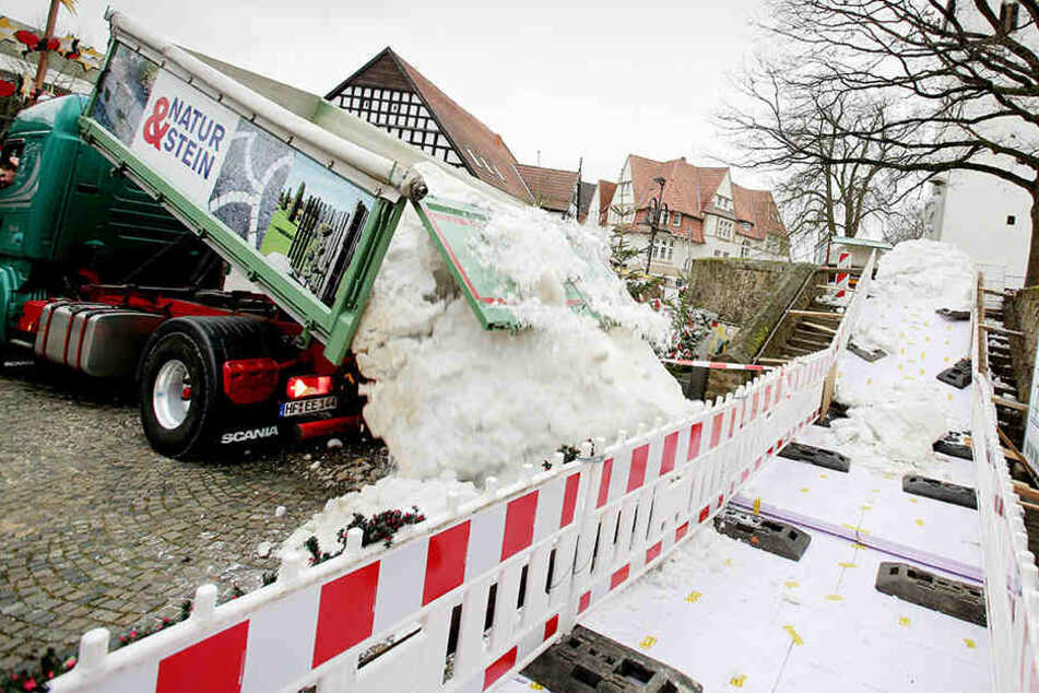 Extra-Lieferung Schnee: Hier kann fleißig gerodelt werden