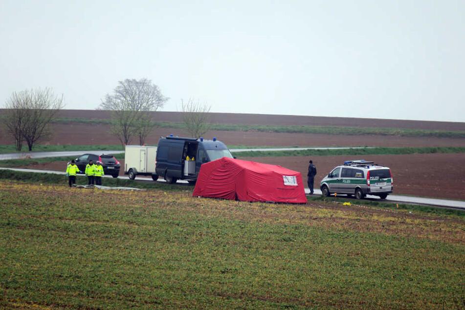 Der Tatort bei Breitenau: Auf diesem Feld starb der Familienvater in der Nacht zum 4. April 2017.