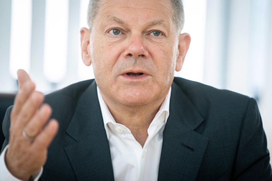 Olaf Scholz (63, SPD), Bundesfinanzminister und Kanzlerkandidat, stellt Soforthilfen in Aussicht.