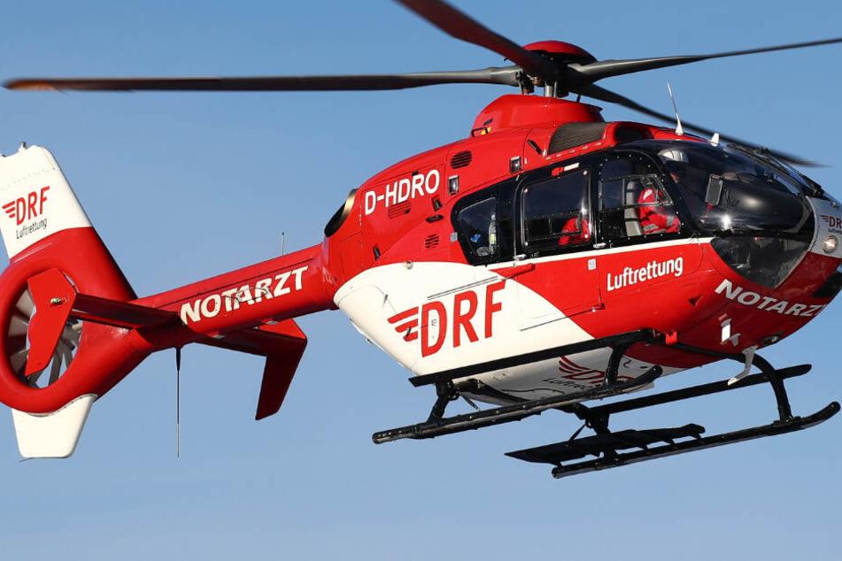 Ein Rettungshubschrauber war in Sonthofen ebenfalls im Einsatz. (Symbolbild)