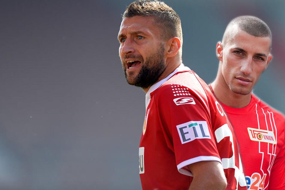 Mattuschka (l.) und Benyamina absolvierten zusammen 461 Spiele für den 1. FC Union Berlin.