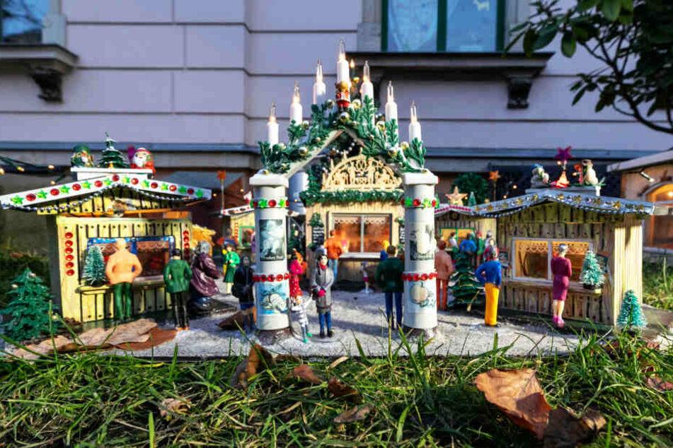 Diesen Weihnachtsmarkt gestaltete Wolfgang Jirka gemeinsam mit seiner Frau.