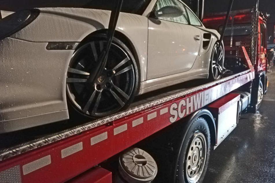 Dieser Porsche wurde aufgrund mehrerer Verstöße sichergestellt.
