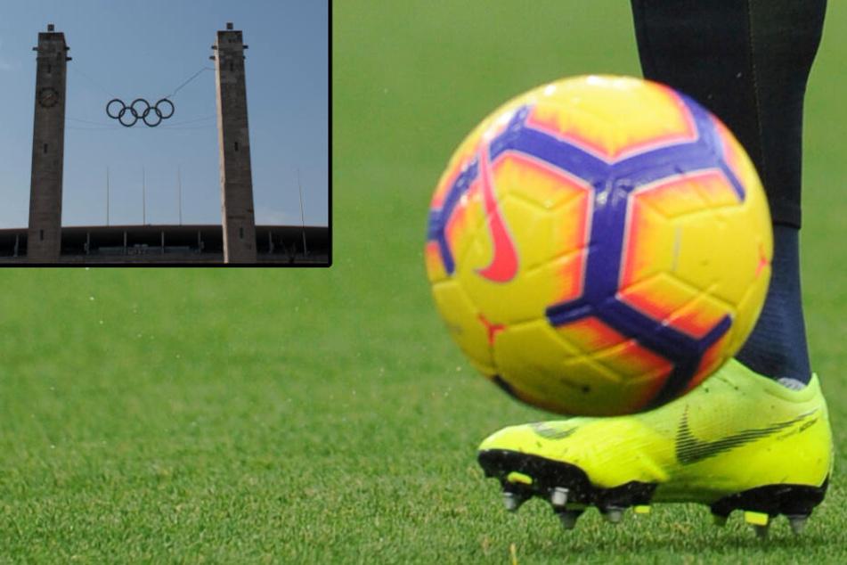 """US-Unternehmen """"Nike"""" richtet seit 1993 den Premier-Cup aus. Auch in diesem Jahr wird wieder auf dem Olympia-Gelände in Berlin gespielt. (Bildmontage)"""