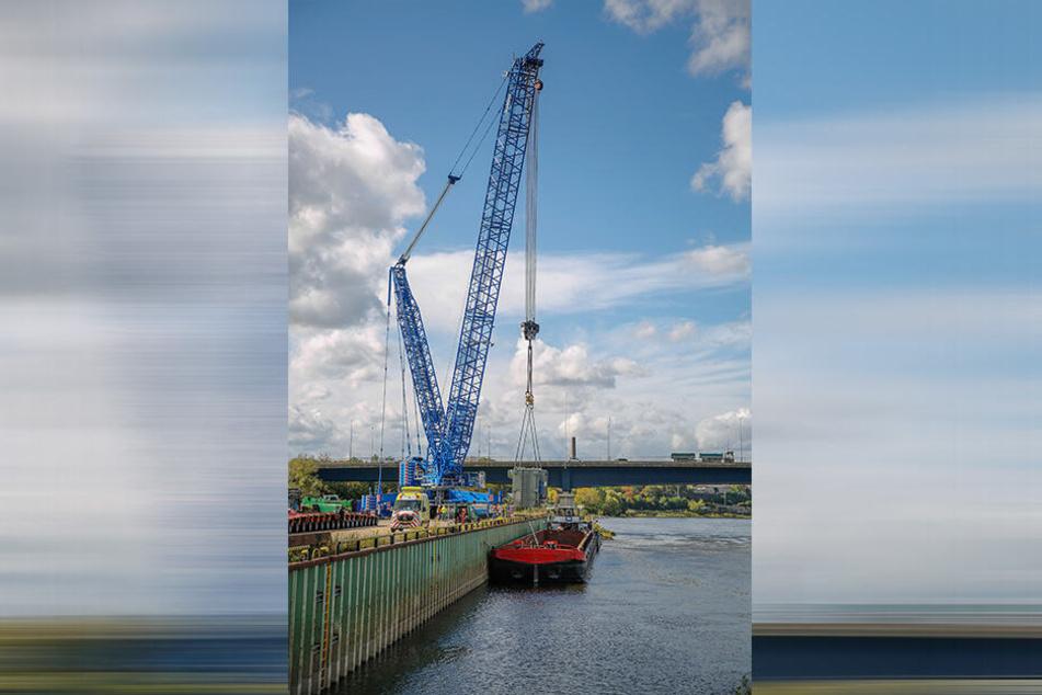 Seit Mittwoch können im Alberthafen wieder Schiffe be- und entladen werden.