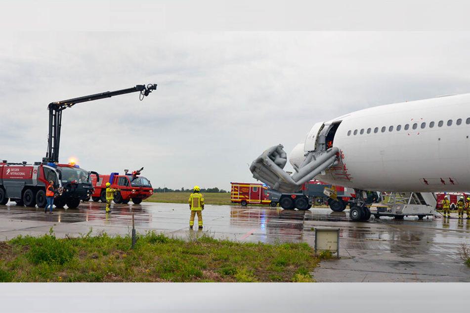Der Flughafen Dresden ist verpflichtet, mindestens alle zwei Jahre Notfallübungen durchzuführen.