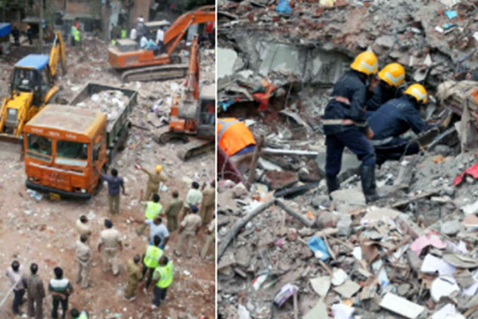 Wohnhaus mit Geburtsklinik stürzt ein: 17 Tote