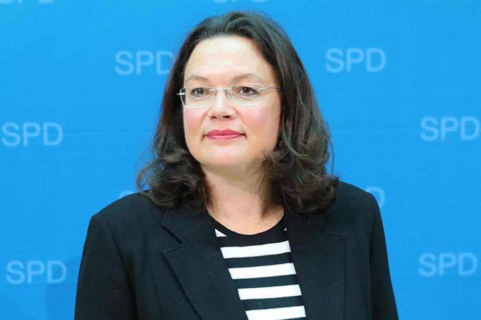 Andrea Nahles (47) ist die neue Fraktionschefin der SPD.