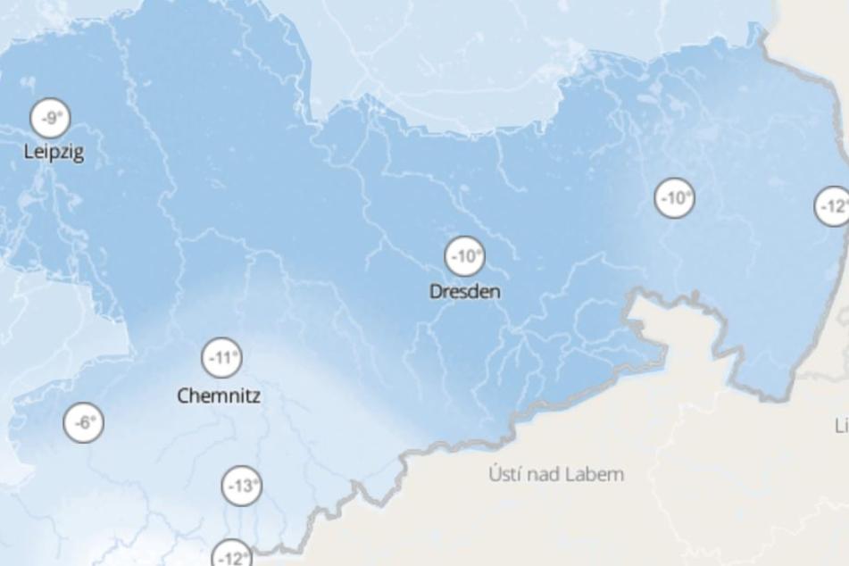 Die gefühlten Temperaturen liegen am Sonntag in Sachsen bei bis zu minus 13 Grad.