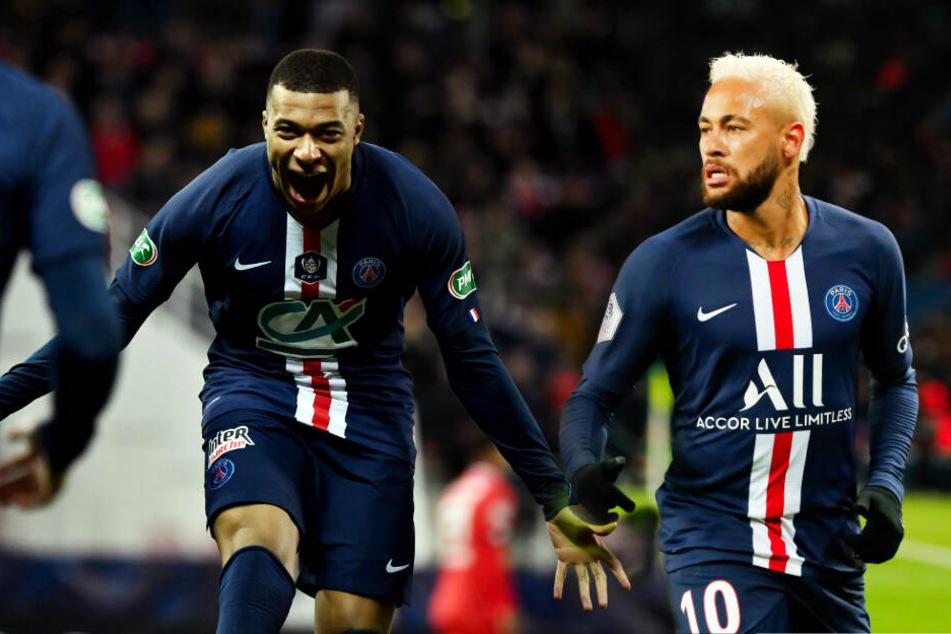 Kylian Mbappé (l.) und Neymar wurden beim spektakulären 4:4 in Amiens geschont. (Bildmontage)