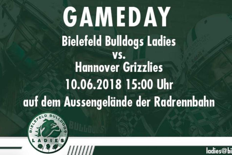 Tragt das Team der Bielefeld Bulldogs Ladies zum Sieg.