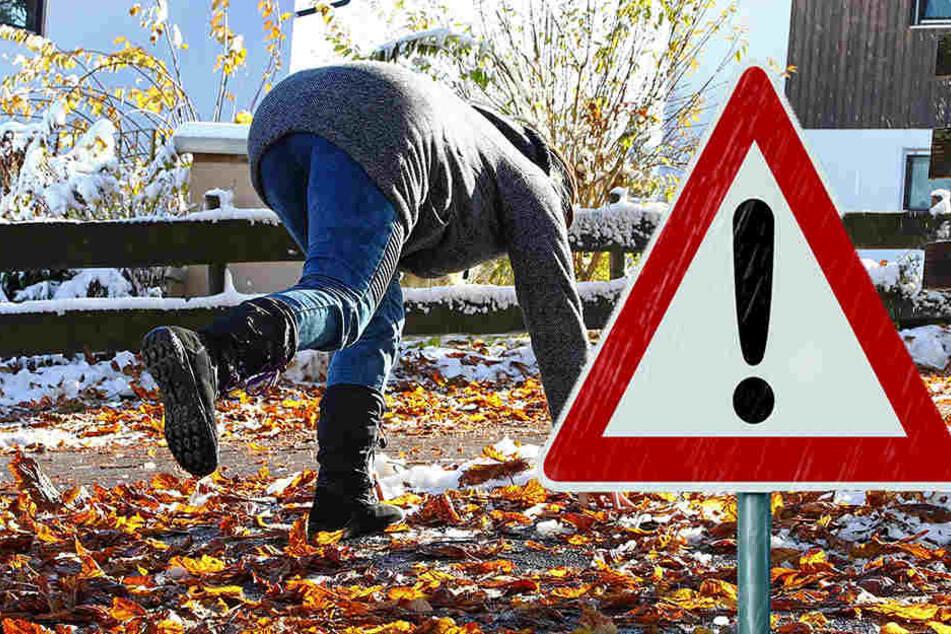 Der Wetterdienst warnt vor glatten Straßen