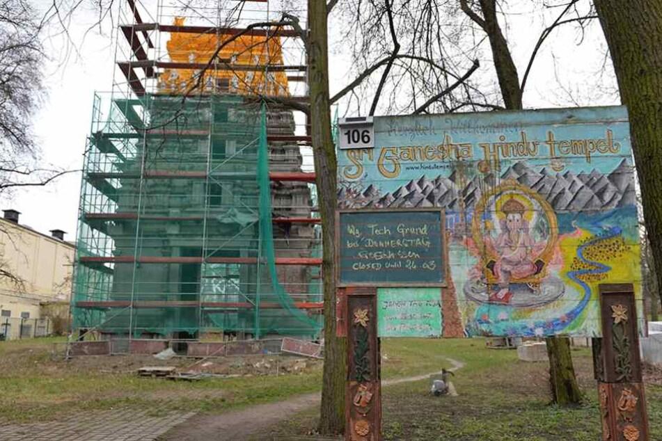 In dem Hindu-Tempel an der Hasenheide wurde eine Leiche gefunden.