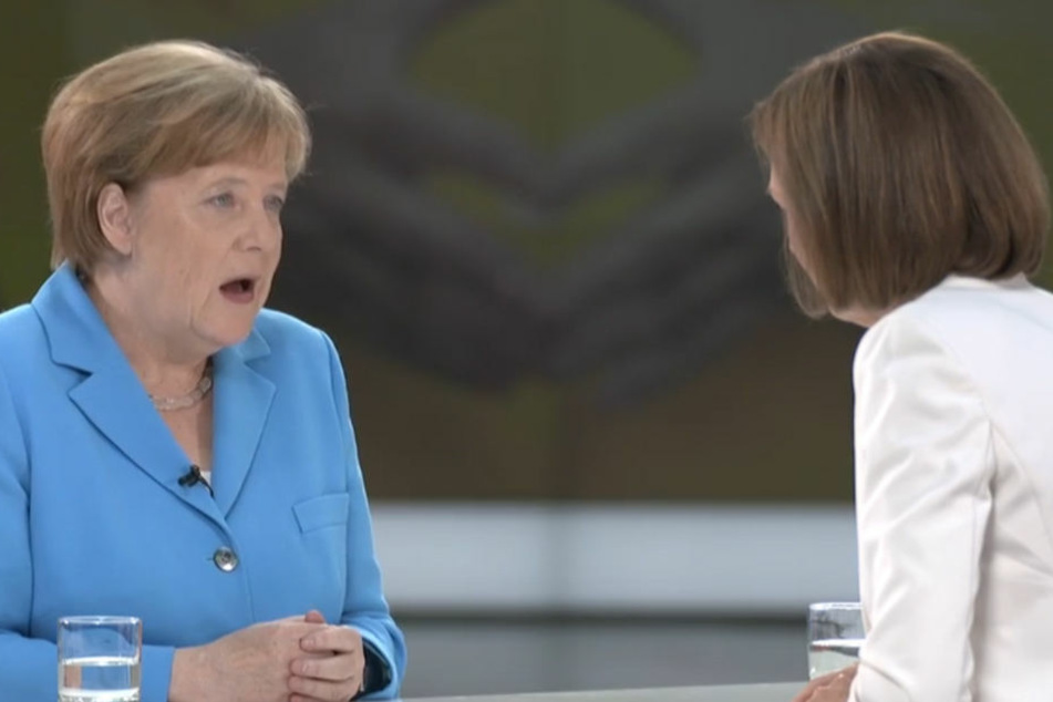 Bettina Schausten im Sommerinterview mit Angela Merkel.
