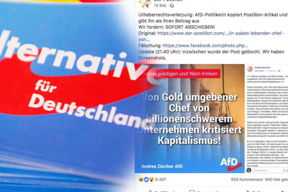 Kein Witz: AfD-Politikerin soll Postillon-Text geklaut haben