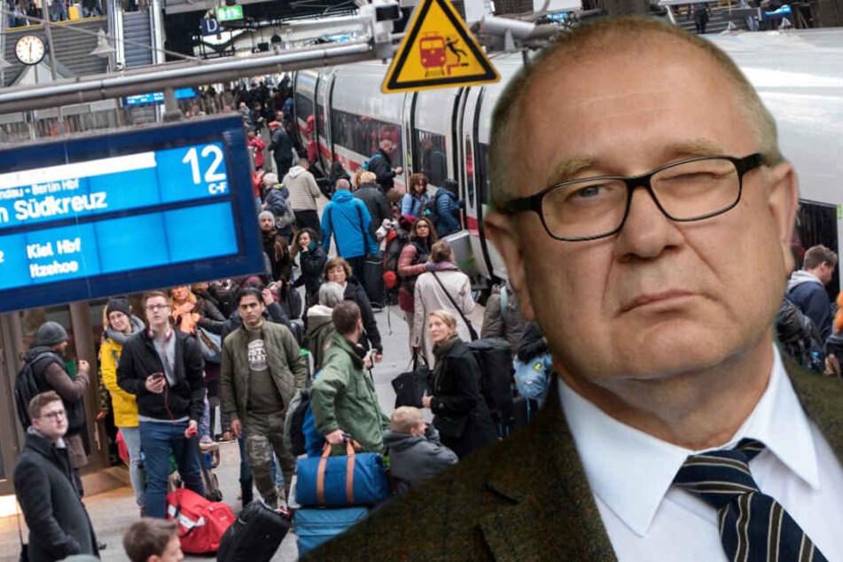Bahn-Aufsichtsrat Klaus-Dieter Hommel findet deutliche Worte. (Bildmontage)