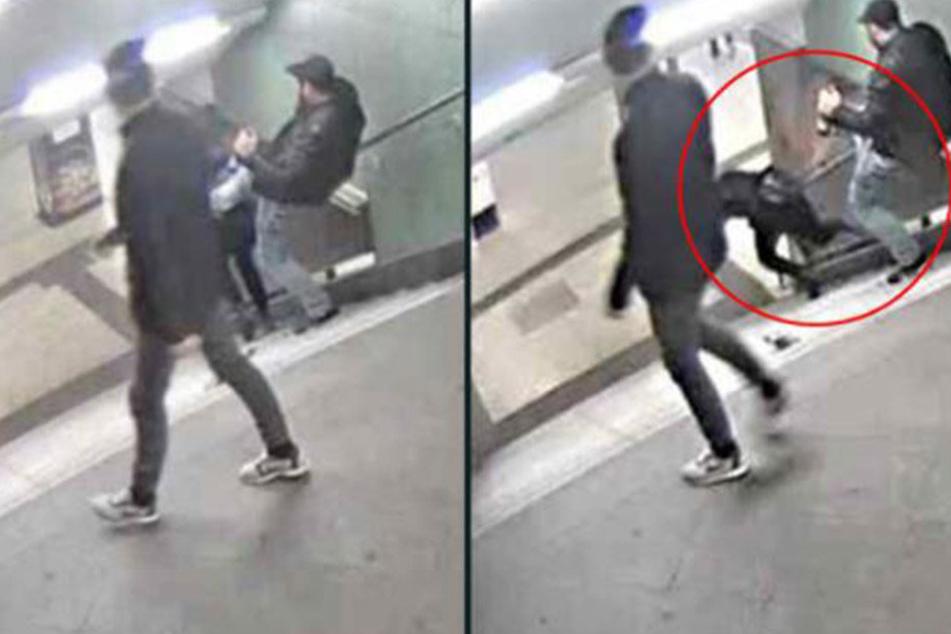 Bei dem Festgenommen soll es sich um den Mann handeln, der am Ende die Bierflasche aufhebt.