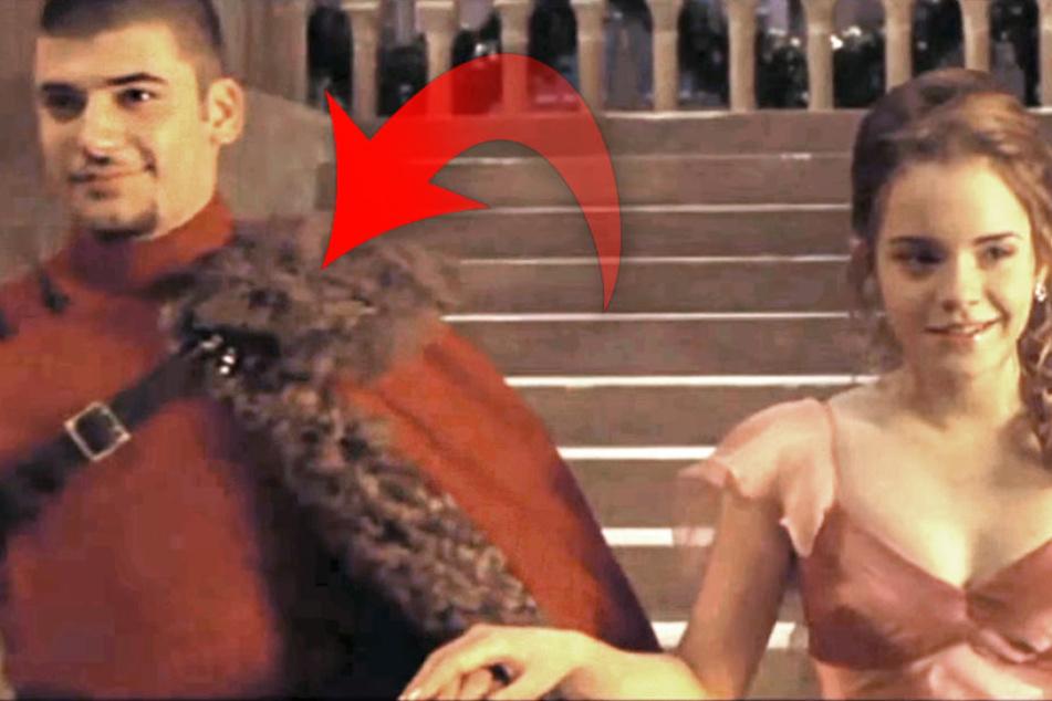 """Stanislaw Janewski (heute 31) an der Seite von Emma Watson (heute 27) in """"Harry Potter und der Feuerkelch""""."""