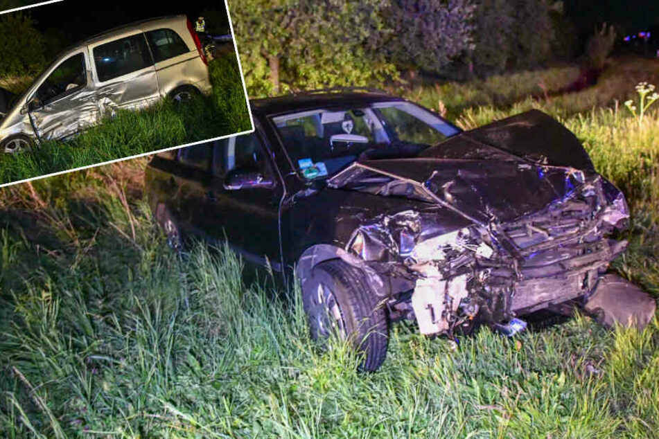 Autos krachen auf Kreuzung zusammen: Zwei Verletzte auf der B71