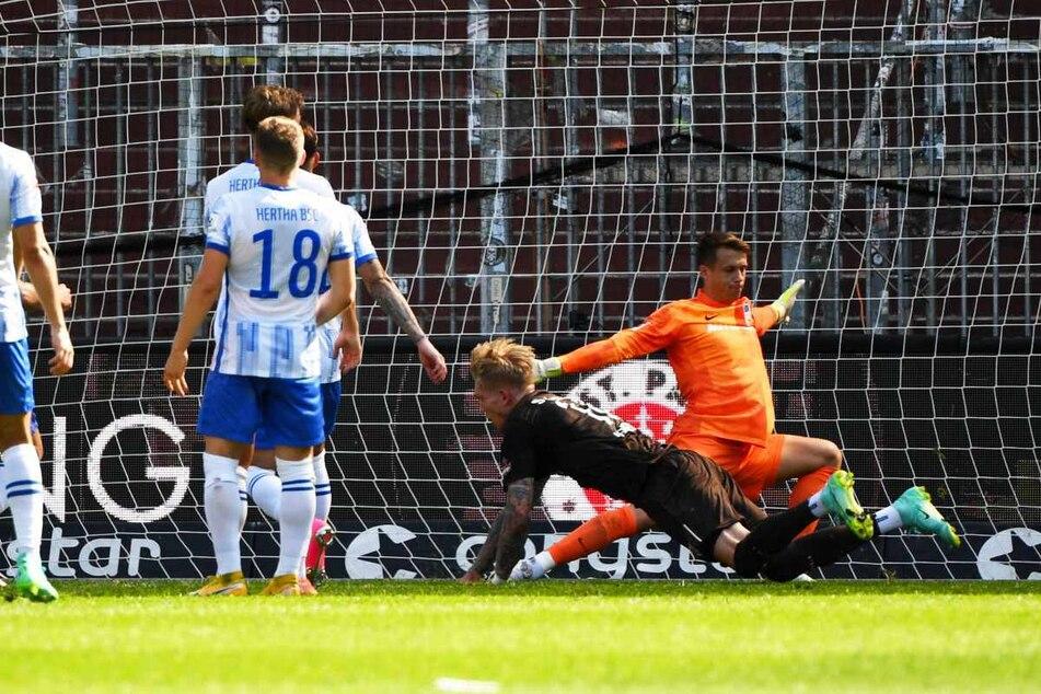 Simon Makienok (30) traf im Testspiel gegen Hertha BSC Berlin zur zwischenzeitlichen 2:1-Führung. (Archivfoto)