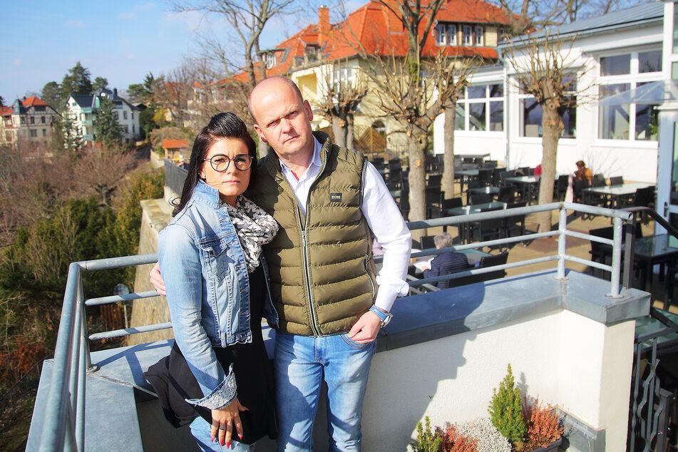 Die Luisenhof-Betreiber Carsten (50) und Carolin (39) Rühle wollen die Traditionsgaststätte geöffnet halten.