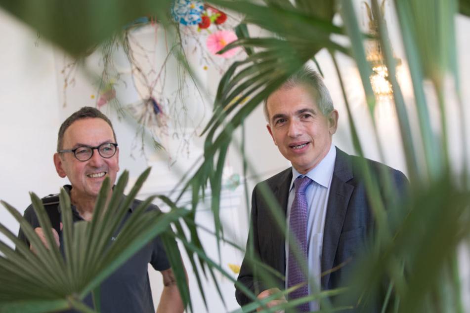 Matthias Jenny (links) wird den Palmengarten nach 20 Jahren verlassen.