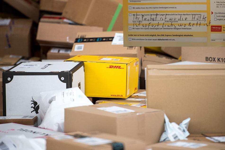 DHL-Bote hinterlässt Paket an einem ganz besonderen Ort