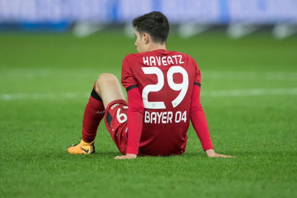 Verletzte sich am Wochenende beim Spiel gegen den VfL Wolfsburg: Kai Havertz.