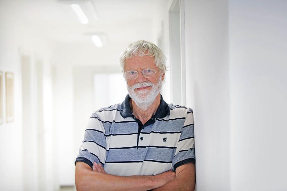 Peter Bartels (73) vom Mieterverein Dresden und Umgebung kritisiert die Vonovia.
